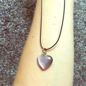 Amethyst Purple Heart Necklace